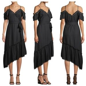 NWT PAIGE Aylin Asymmetrical Cold Shoulder Dress